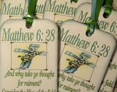 Gift Tags Scripture Tags Matthew 6 Consider the Lilies of the Field Tags