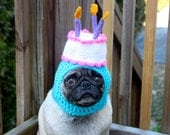 Happy Happy  Birthday Cake Dog Hat / Made To Order - Sweethoots