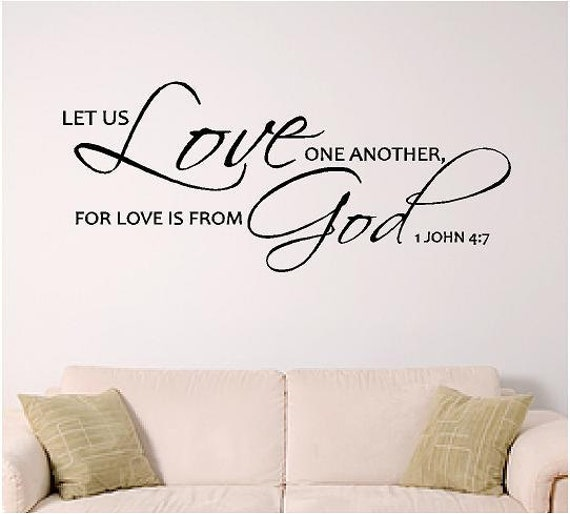 bible verse wall art, Love