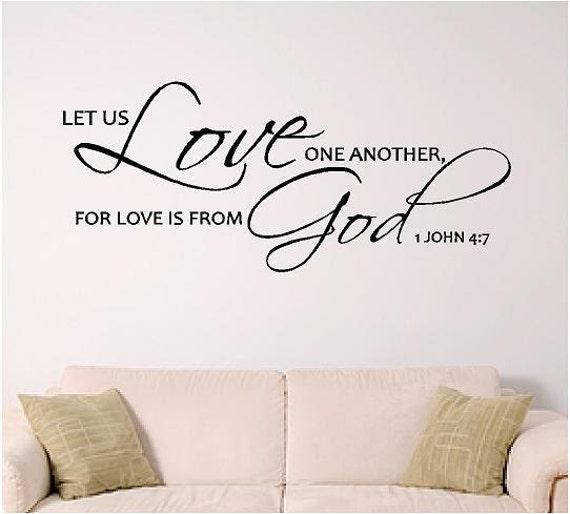 bible verse wall art, Love