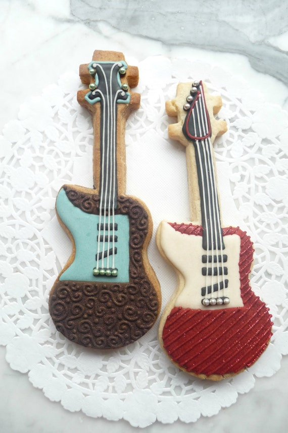 Electric Guitar Sugar Cookies