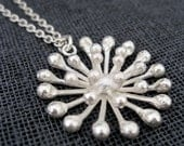 Handcrafted Dandelion Pendant on a Long Chain - Whalebird