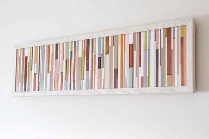 Wood Wall Art Sculpture skinny wood pieces by ArtGlamourSligo