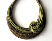 Statement  fiber and suede  necklace - superlittlecute