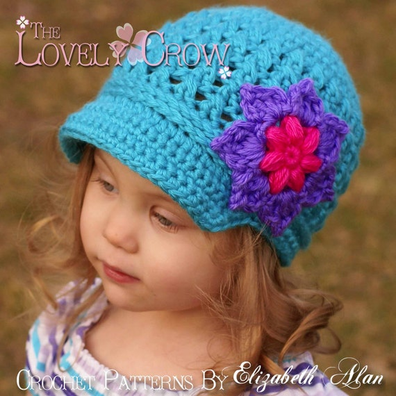 Newsboy Hat Crochet Pattern   LITTLE SPORT NEWSBOY hat