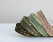 Wool Felt Bracelet Wristband Cuff // Meadow // LoftFullOfGoodies - LoftFullOfGoodies