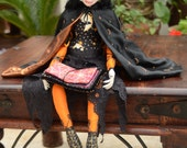 Halloween Witch Collectors Beaded Art Doll