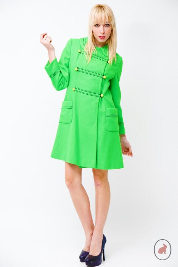 green 60s coat