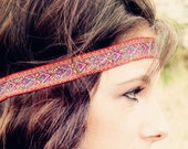 The Moroccan Sun Bohemian Headband, Glorious Colors, beautiful ornate detail, Exotic - Murabelle