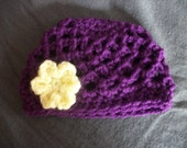 4-12 Year Beret with Flower - Any Color - Photo Prop