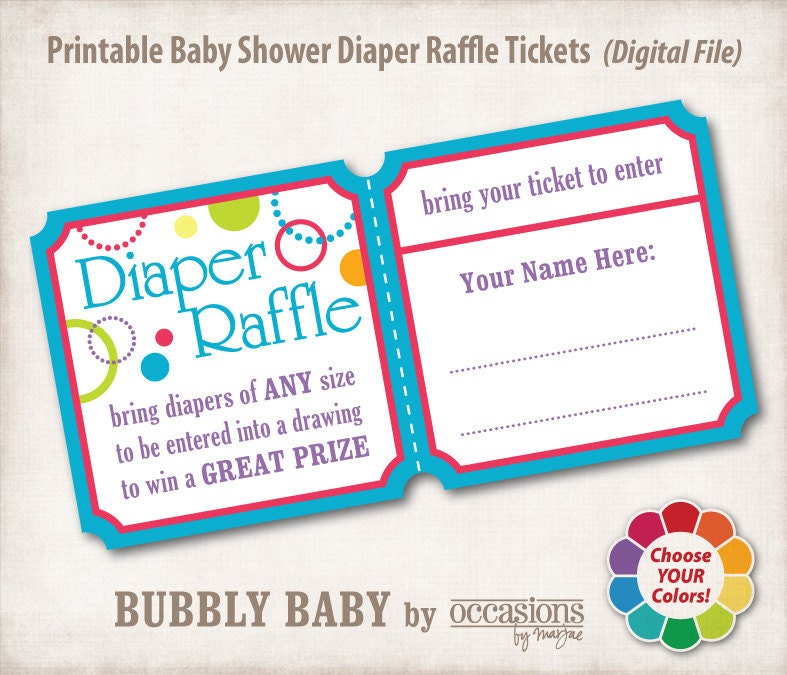 baby diaper raffle ticket template