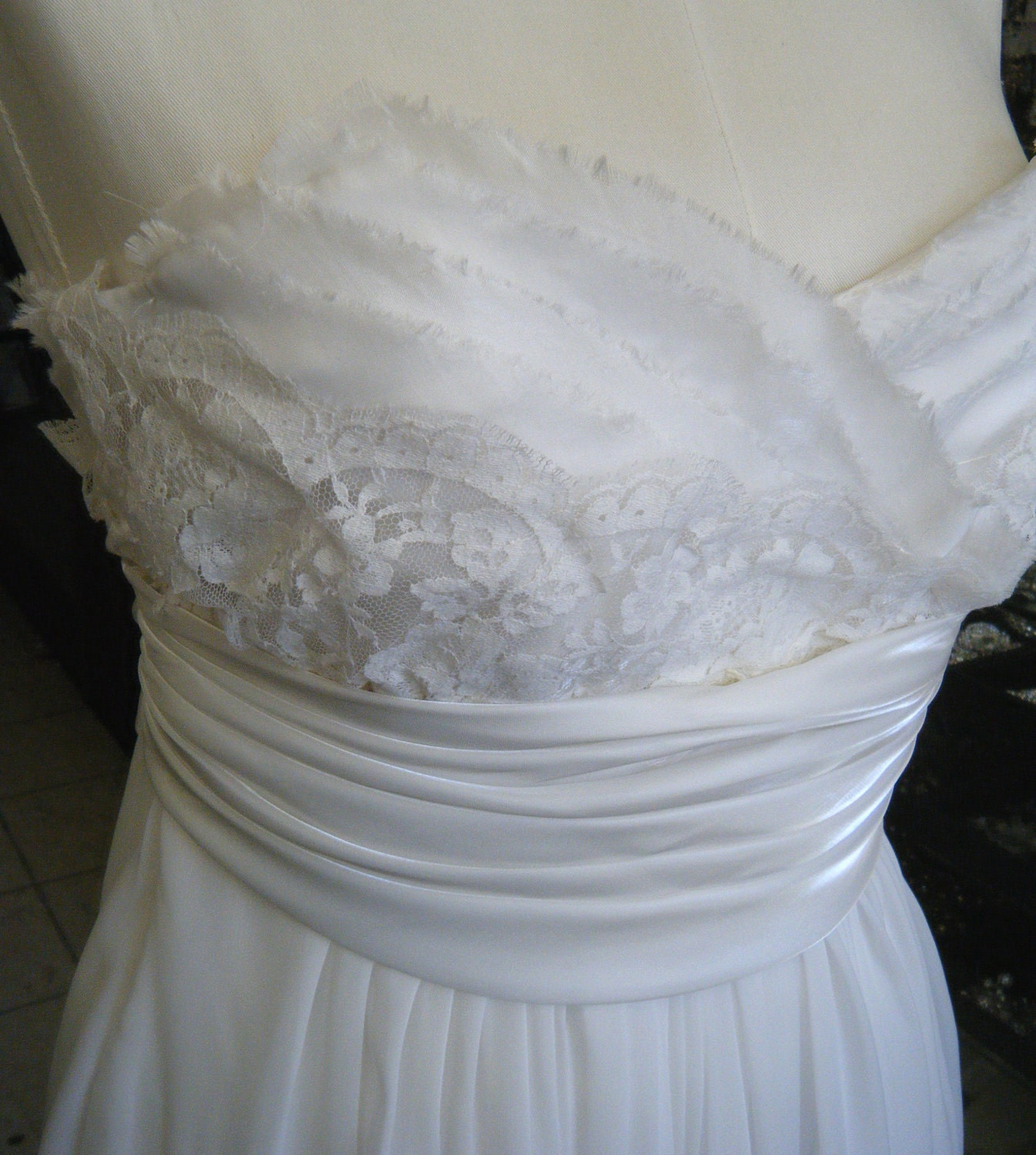 Vintage Wedding Dresses Toronto: Clearance Sale FUN Antique Lace & Chiffon By Icoutureicouture