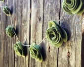 10' Felt Rose Wedding Garland Decoration Decorating Romantic Chic Wedding Cake prop Table Garland  Photo Prop