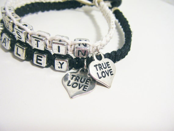 Couples True Love Charm Bracelets Set of 2 MADE TO ORDER-1 Week production time