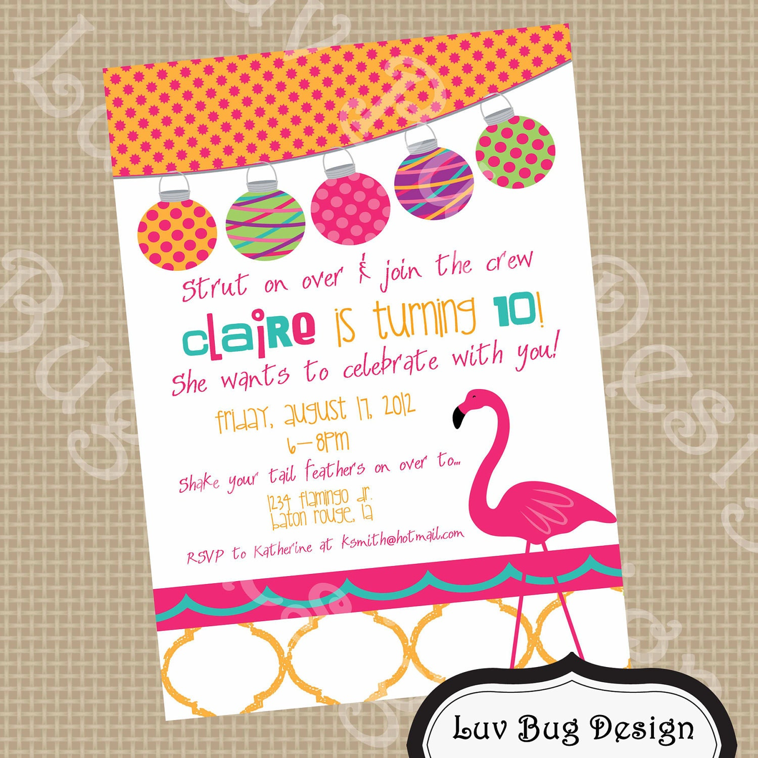 17 Best images about Pink Flamingo Party ideas – Tropical Birthday Invitations