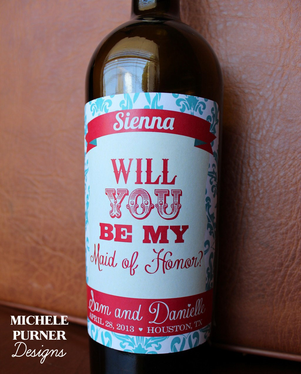 Bridesmaid Wine Labels