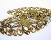 Antiqued Brass Filigree Connector - 2pcs - LittleChickiesCrafts