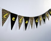 let's drink -- lined birthday/bachelorette/party pennant banner - jordandene