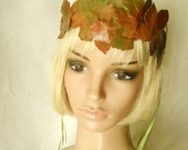 Leather Leaves Hair Wreath in Autumn Colors - BettyAtkins