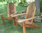 Red Elm with Walnut Adirondack Chair Set - 2ndCenturyFurniture
