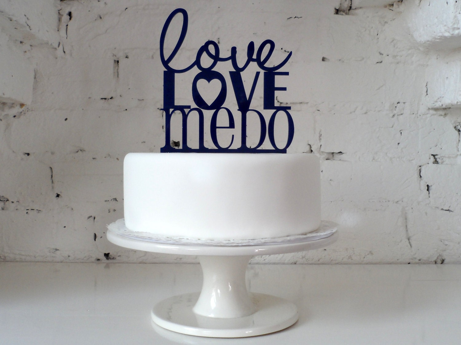 Love Love Me Do topper by Miss Cake on Etsy