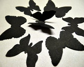 100 BLACK  BUTTERFLY Die Cuts, 100 Royal Classic Butterfly Embellishments, Noir, Party Table Decoration, Paper Confetti by EnchantedForest7 - EnchantedForest7