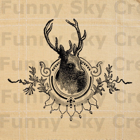 graphic regarding Deer Silhouette Printable referred to as deer brain silhouette printable