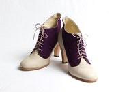 1920's vintage inspired two tones high heels FREE WORLDWIDE SHIPPING - goodbyefolk