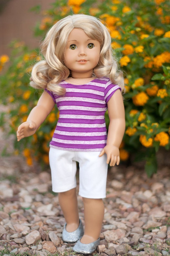 Doll Clothes: Basic White Shorts in City Walking Length for an American Girl Doll or other 18 Inch Dolls