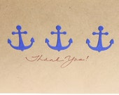 Nautical Thank You Cards- Anchors - RoyalRegards
