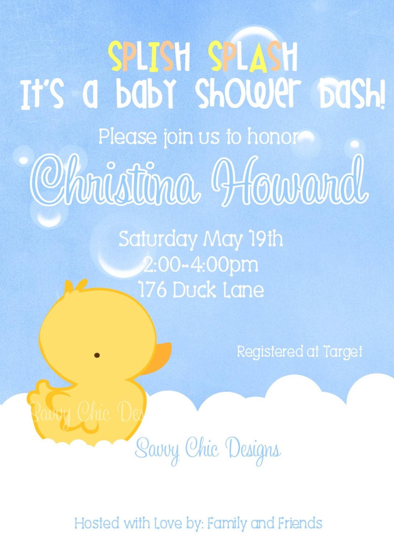 Rubber Ducky Invitations was beautiful invitations design