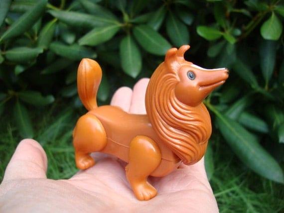 Pomeranian / Collie Playmobil Type Dog Toy