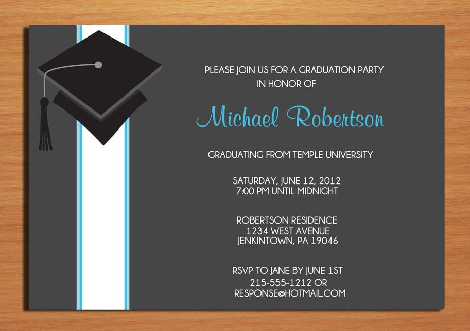 Wording For Graduation Party Invitations can inspire you to create best invitation template
