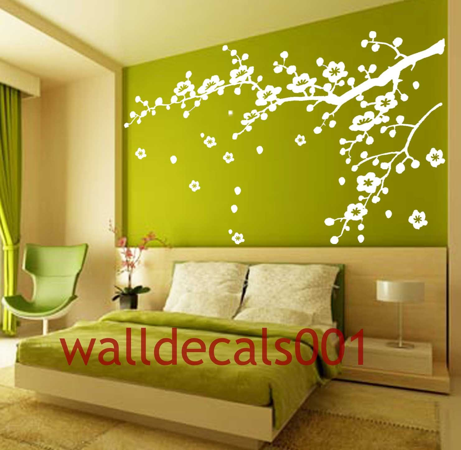 Vinyl Wall Decals wall stickers tree decal flower by walldecals001