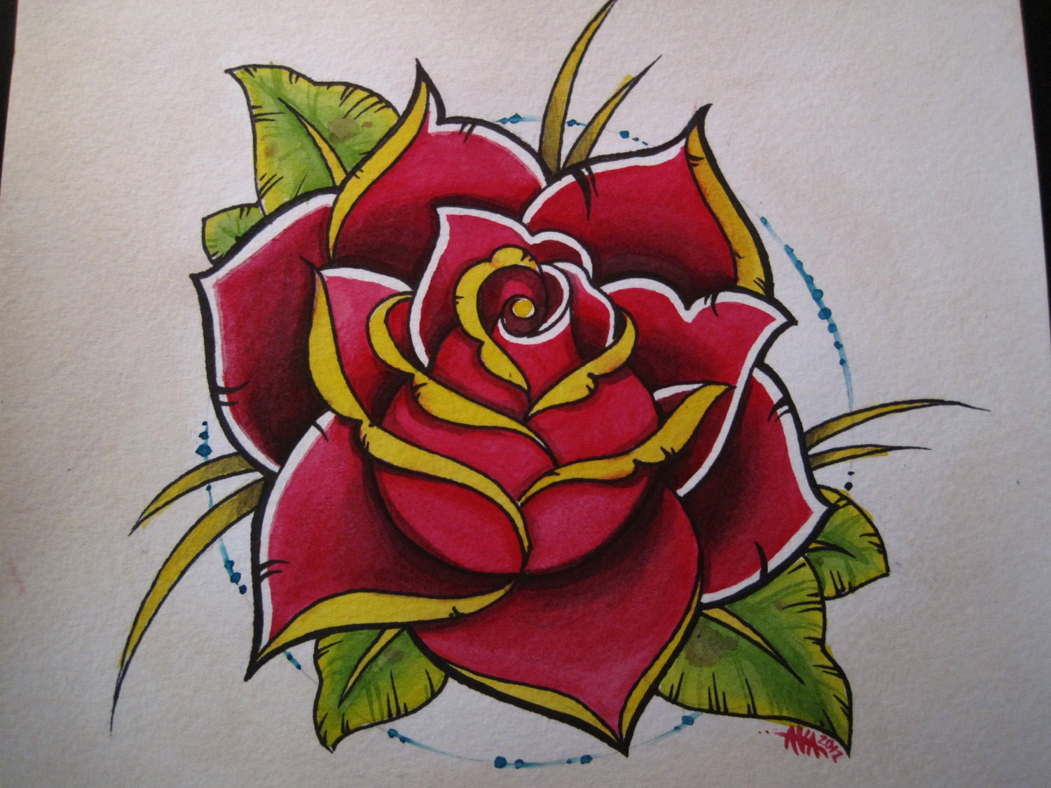 Rose Artwork Tattoo