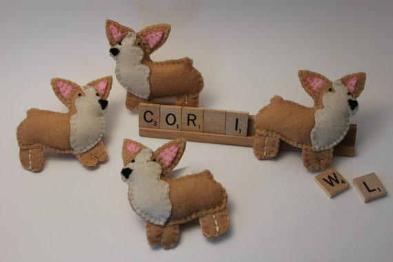 Welsh Corgi Felt Plush Doll - Made to order