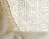 "transparent cotton courtain 57 x 87 "" in natural white colour - maalikaa"