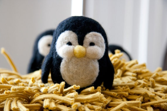 Gus, the needle felted penguin