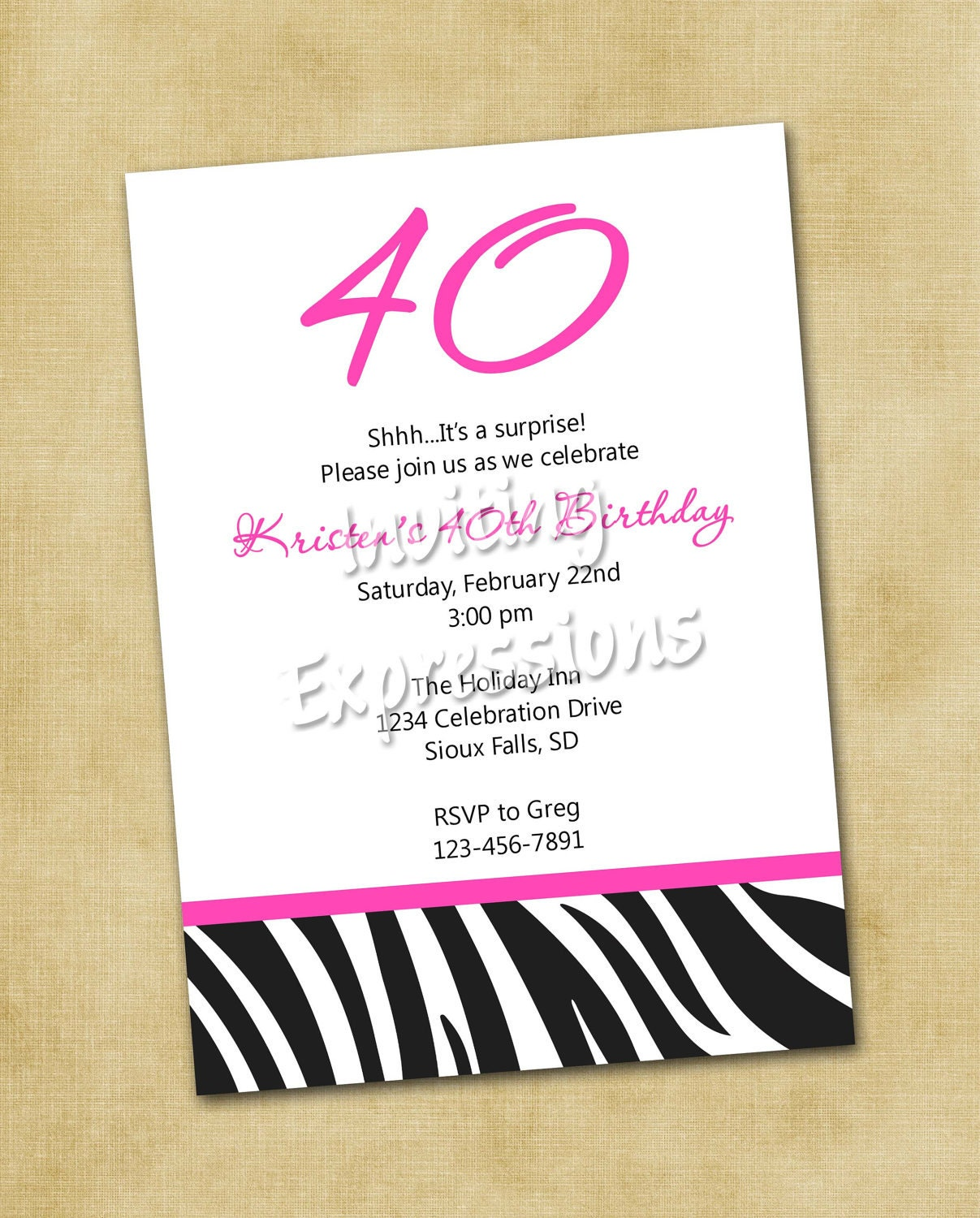 Invitations For 40th Birthday Quotes. QuotesGram