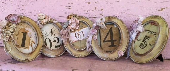 Table number Framed Custom 5x7