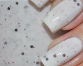 Belle Pink and Brown Glitter in White Nail Polish 15ml (.5oz)