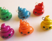 Cute Rainbow Poop Charms-Pick One