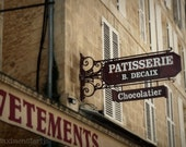 France Photography - French Houses - Fine Art Travel - 8x10 Patisserie Chocolatier Dreamy Street - Dreams Of Chocolate - Maximonstertje