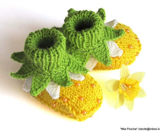 "Baby booties ""Flowers Fairy Booties"" / 0-3M"
