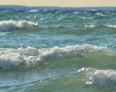 Ocean Photography 8x10,  Ultramarine Green Water Picture, Teal Blue Wave Photograph, Seaside Art,  Beach House Decor, Vacation Print - PureNaturePhotos