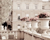 Paris Photography - Luxembourg Garden, Paris photograph decor, Neutrals, Gardens, Chairs, Sepia Fine Art Photograph, Urban Home Decor - ParisPlus