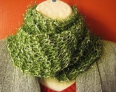 Scarf Handknit Christmas Green and Silver offered by catsarelove for Lady Sophia's Treasures