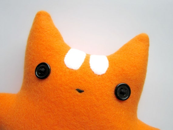 Alphonse the orange and white striped plush cat by Applekinzz on Etsy