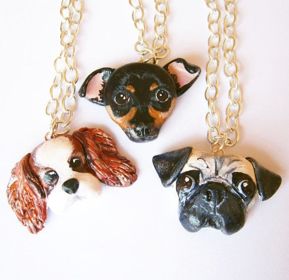Custom Dog Necklace, Pet portrait, pet jewelry