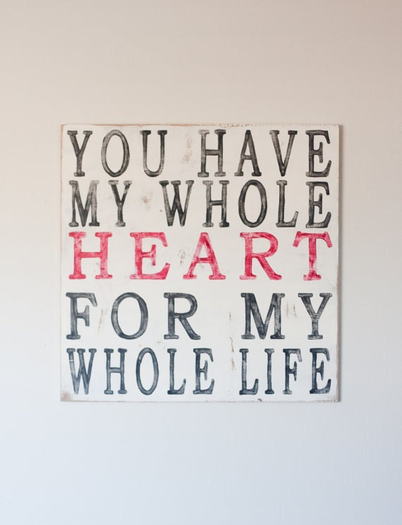 Whole Heart - Handpainted Wooden Wall Art